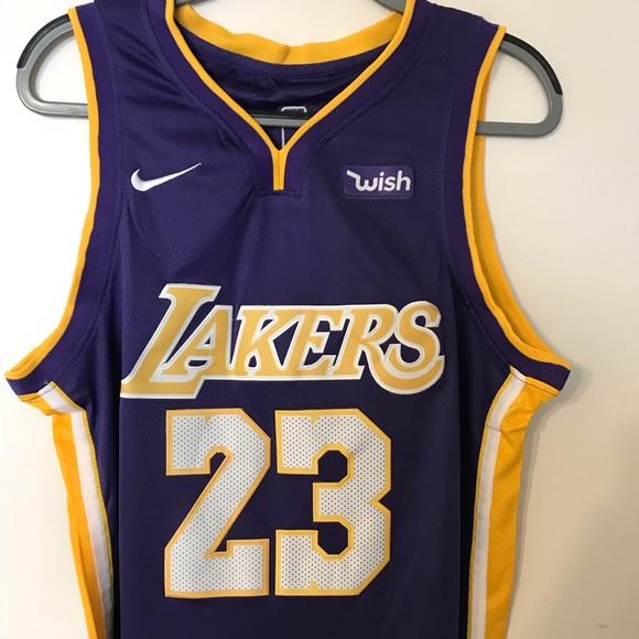 premium selection d5c4f 88181 Lebron James Nike Swingman Jersey purple/gold S NWT